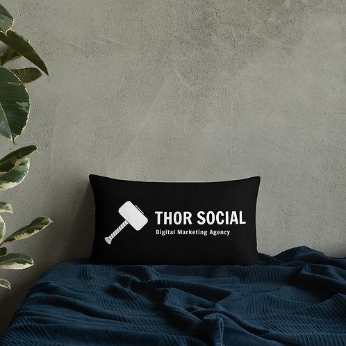 Thor Social Throwboy Black Pillow 20x12