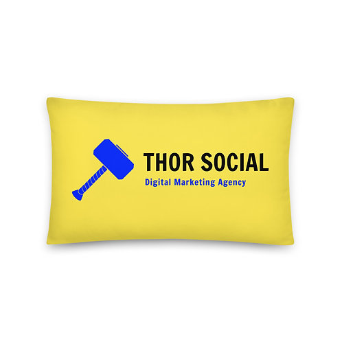 Thor Social Yellow Accent Pillow