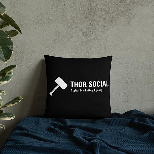 Thor Social Throwboy Black Pillow 22x22