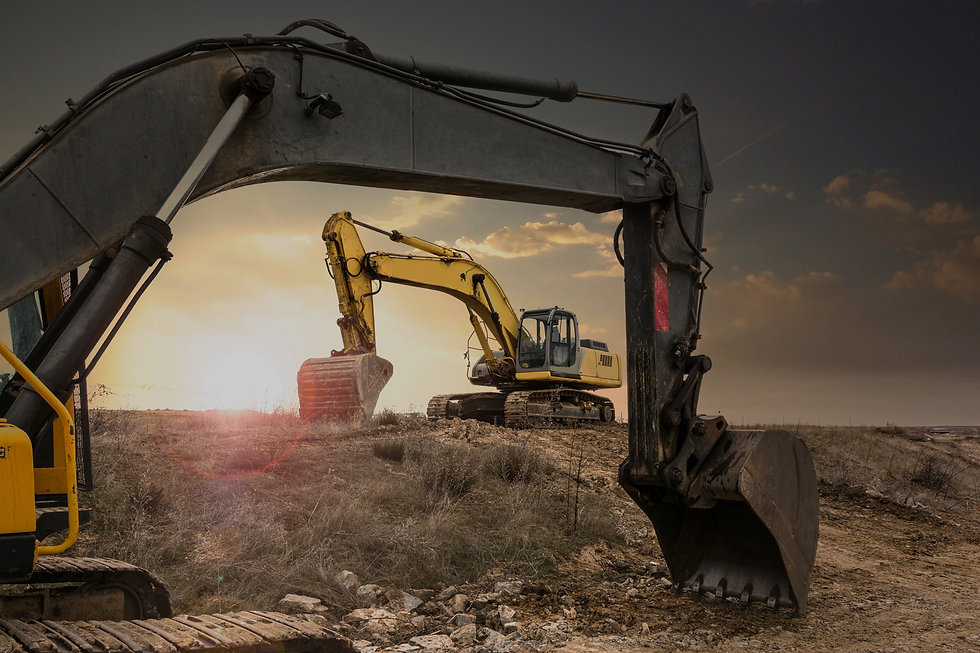 Heavy varied rental machinery for constr