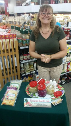 Sharing samples of our sauerkraut products