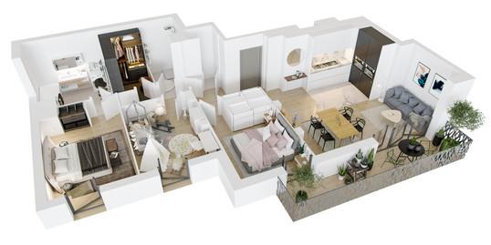 3d-sales-plan-real-estate-interior-designer