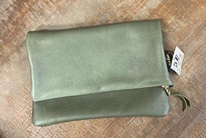 Zina Kao Soft Leather Foldover Clutch