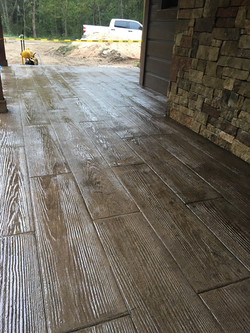 Wood Plank Stained Concrete