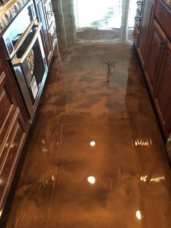 Brown Epoxy Kitchen Floor