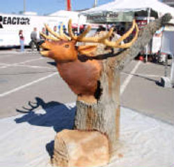Concrete Elk Head