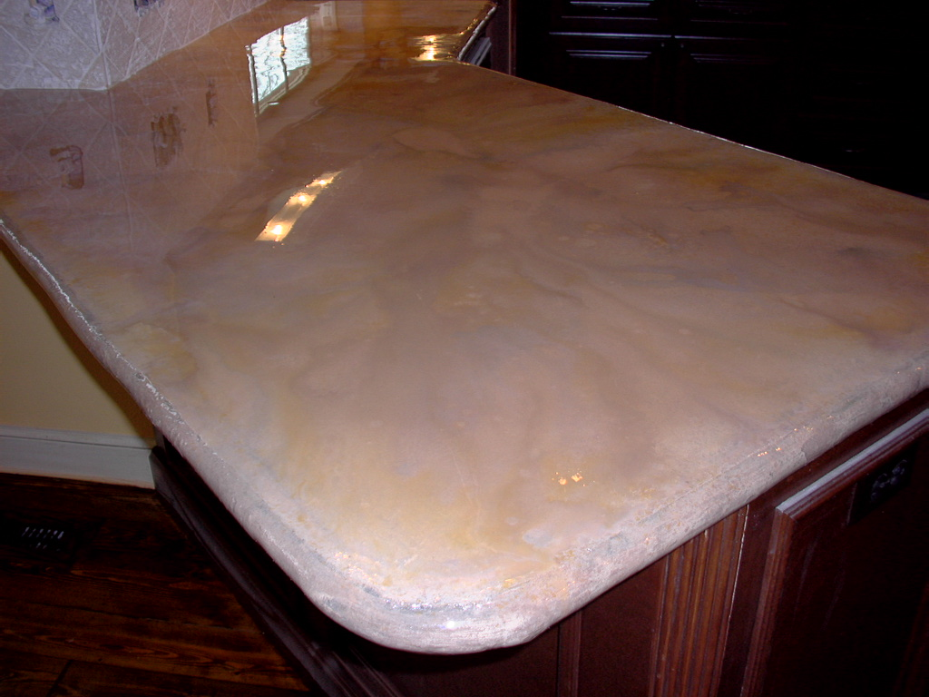 Concrete Counter Top Island