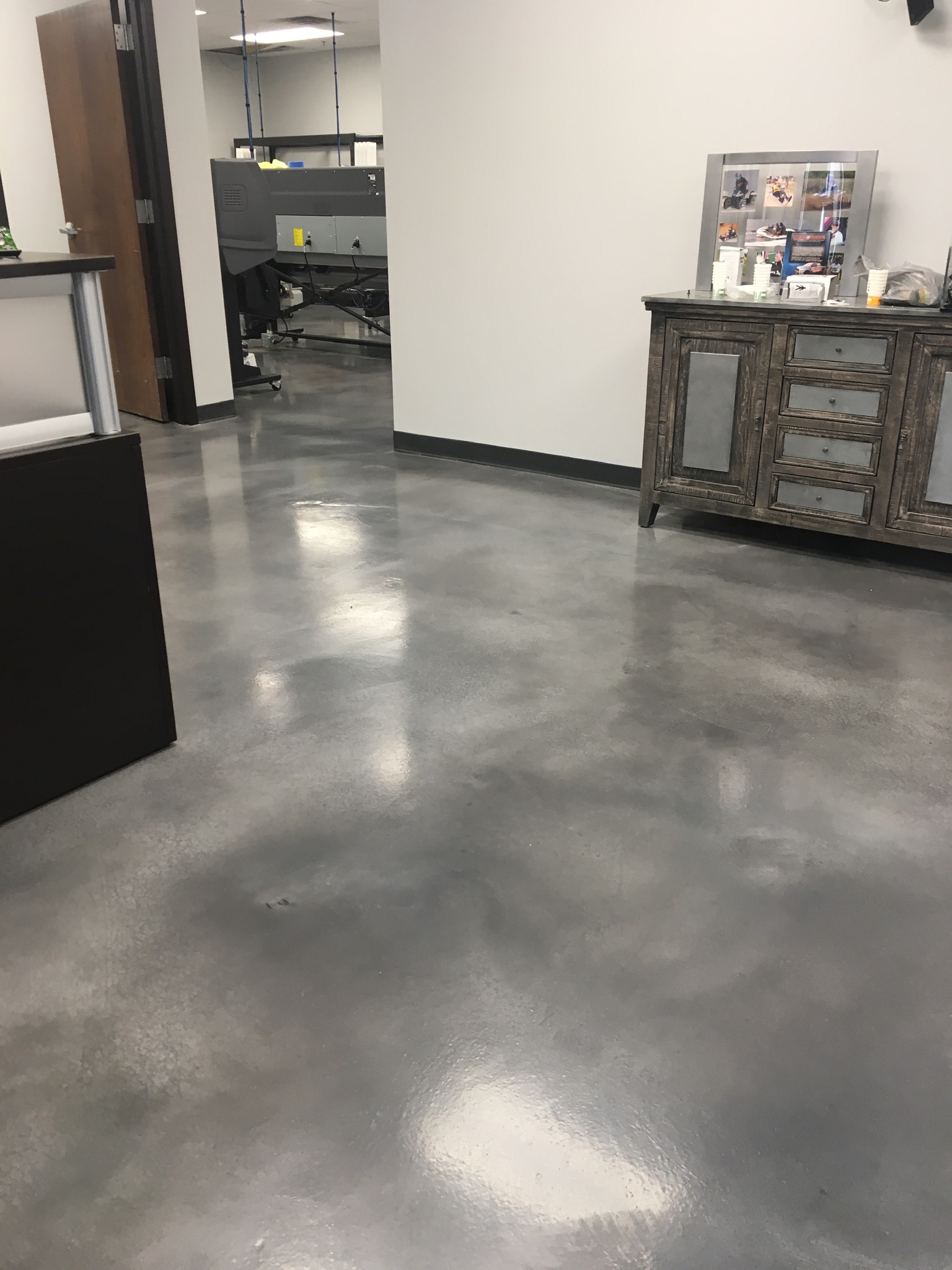 Silver Stained Concrete Installation