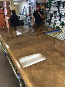 Concrete counter top epoxy