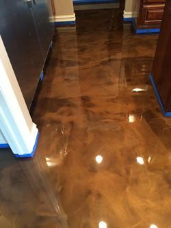Umber Colored Epoxy Floor