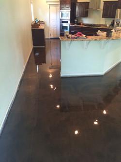 Dark Brown Epoxy Floor