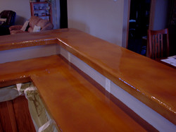 Stained Concrete Counter Top