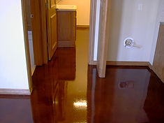 Stained concrete floors in Tulsa