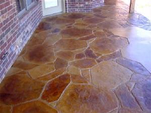Flagstone and acid stain