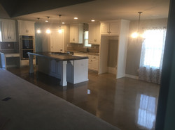 Acid Stained Concrete in Kitchen