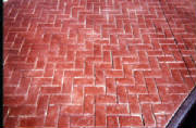 Herringbone Brick Concrete