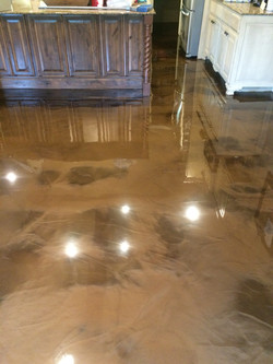 Tan Epoxy House Floor