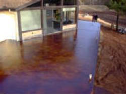 Vintage Umber Acid Stained Patio