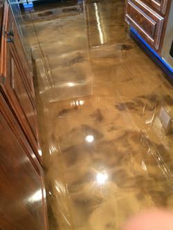 Tan Epoxy Kitchen Floor