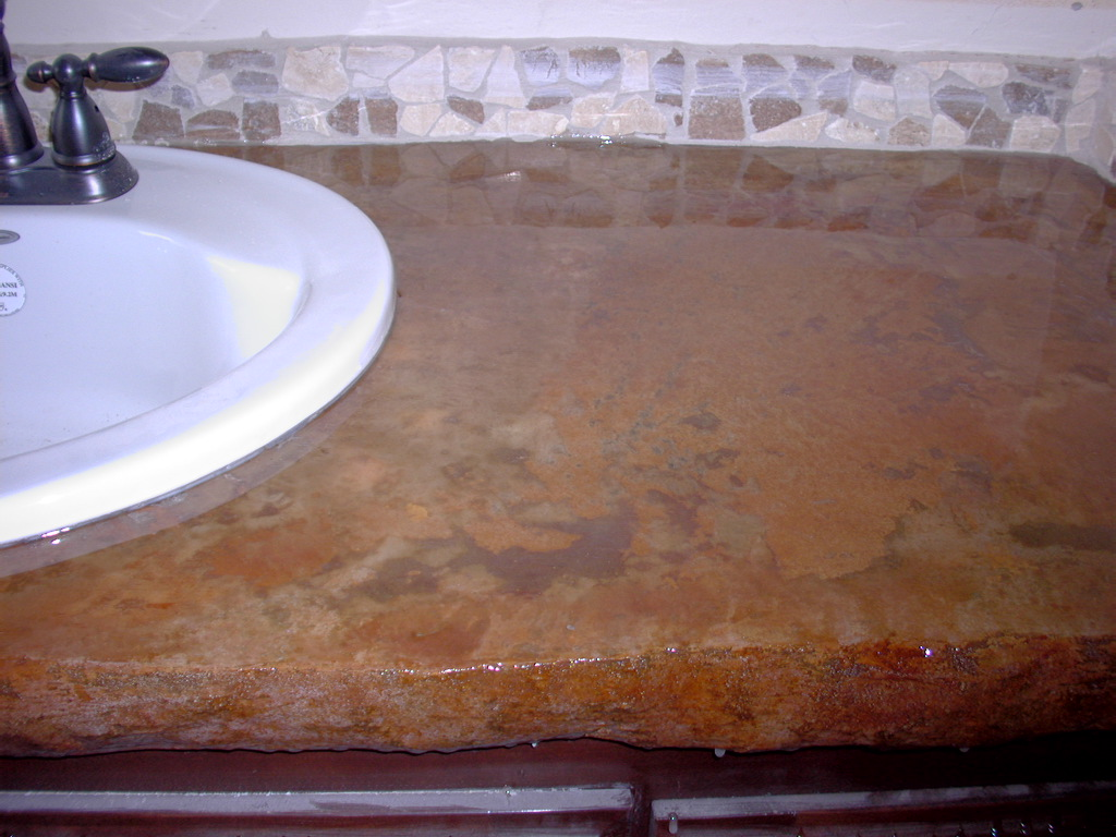 Acid Stained Concrete Counter top
