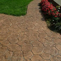 Stamped concrete driveway in Tulsa