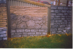 Vertical Surface Stamped Concrete