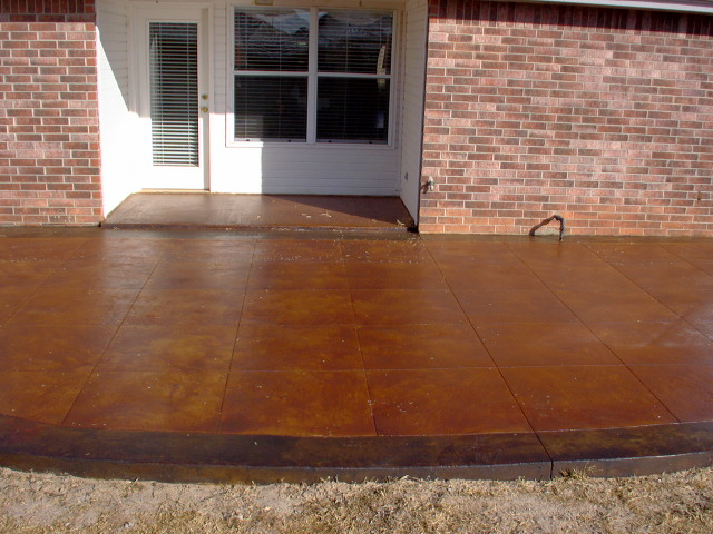 Vintage Umber Concrete Stained Patio