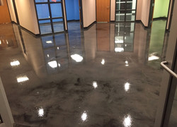 Gray and Silver Stained Concrete