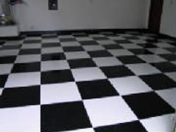 Epoxy Checkerboard Design