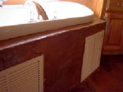 Vertical Stamped Concrete Bath Tub