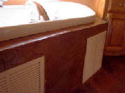 Vertical Stamped Concrete Bath Tub