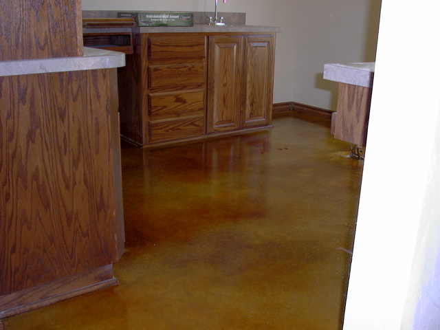 Tan Acid Stained Floor