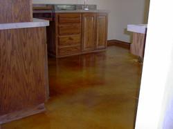 Tan Acid Stained Floor