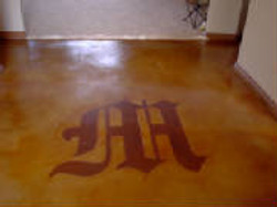 Entry Way Logo on Concrete