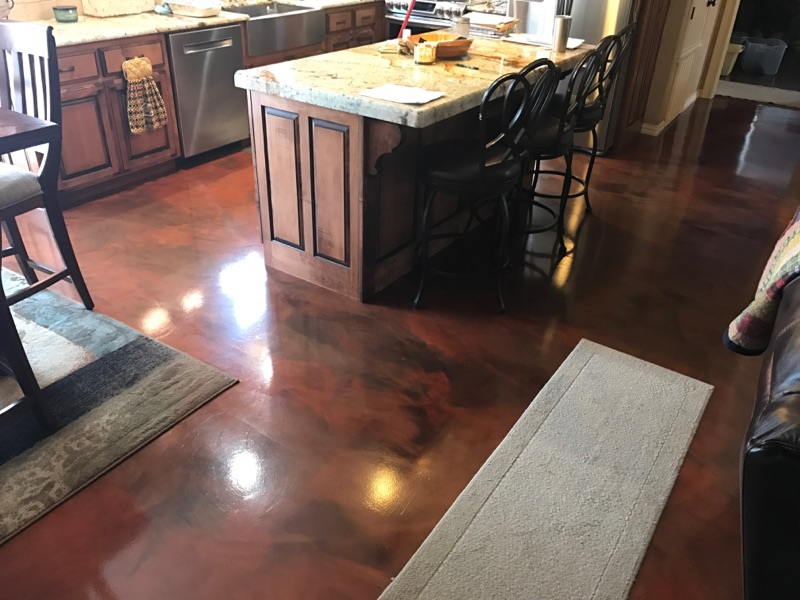 Epoxy Breakfast Nook Floor