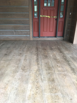 Wood Plank Stamped Concrete