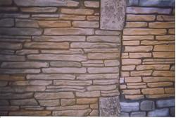 Vertical Stamped Concrete Sandstone