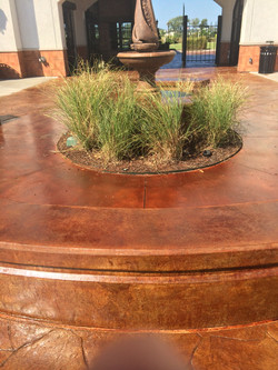 Acid Stained Water Feature