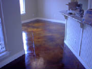 Cola acid stained concrete