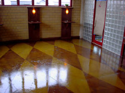 Diamond Design for Stained Concrete