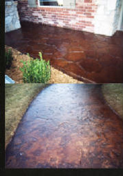 Stamped & Stained Concrete Overlay