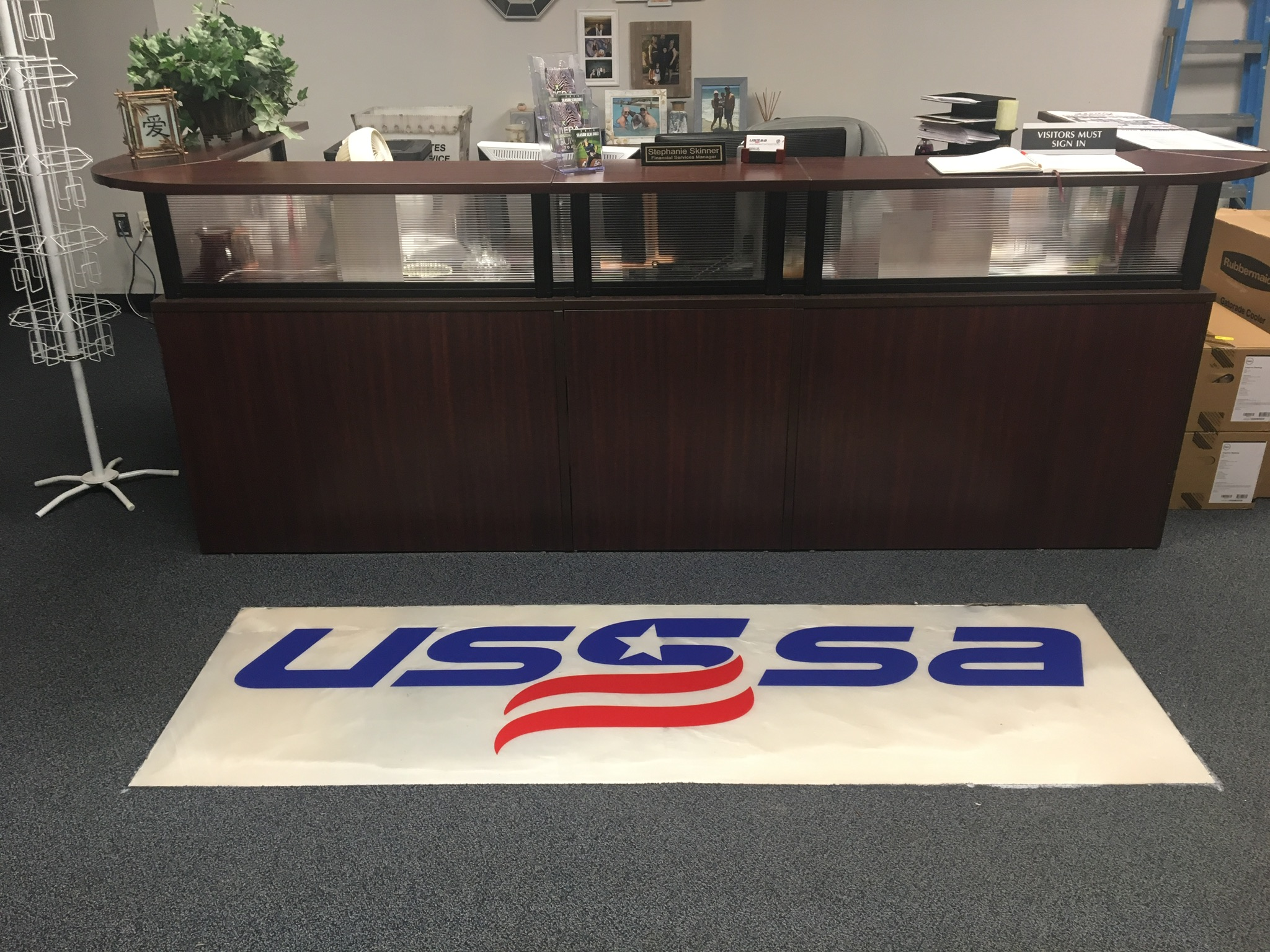 Metallic Epoxy Logo