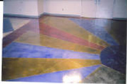 Water based stained design