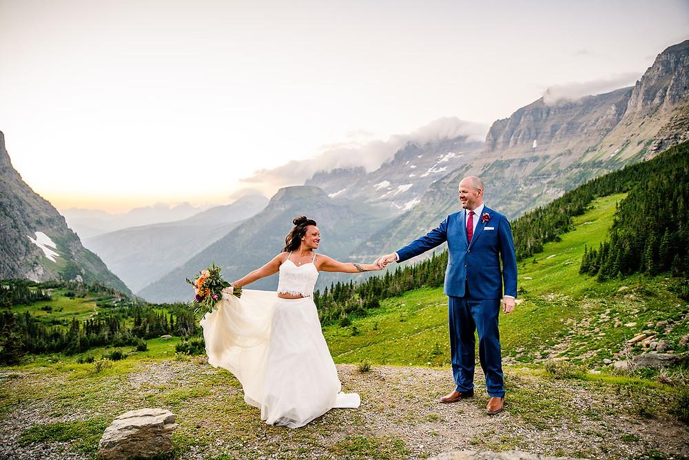 An Epic Elopement in Glacier National Park