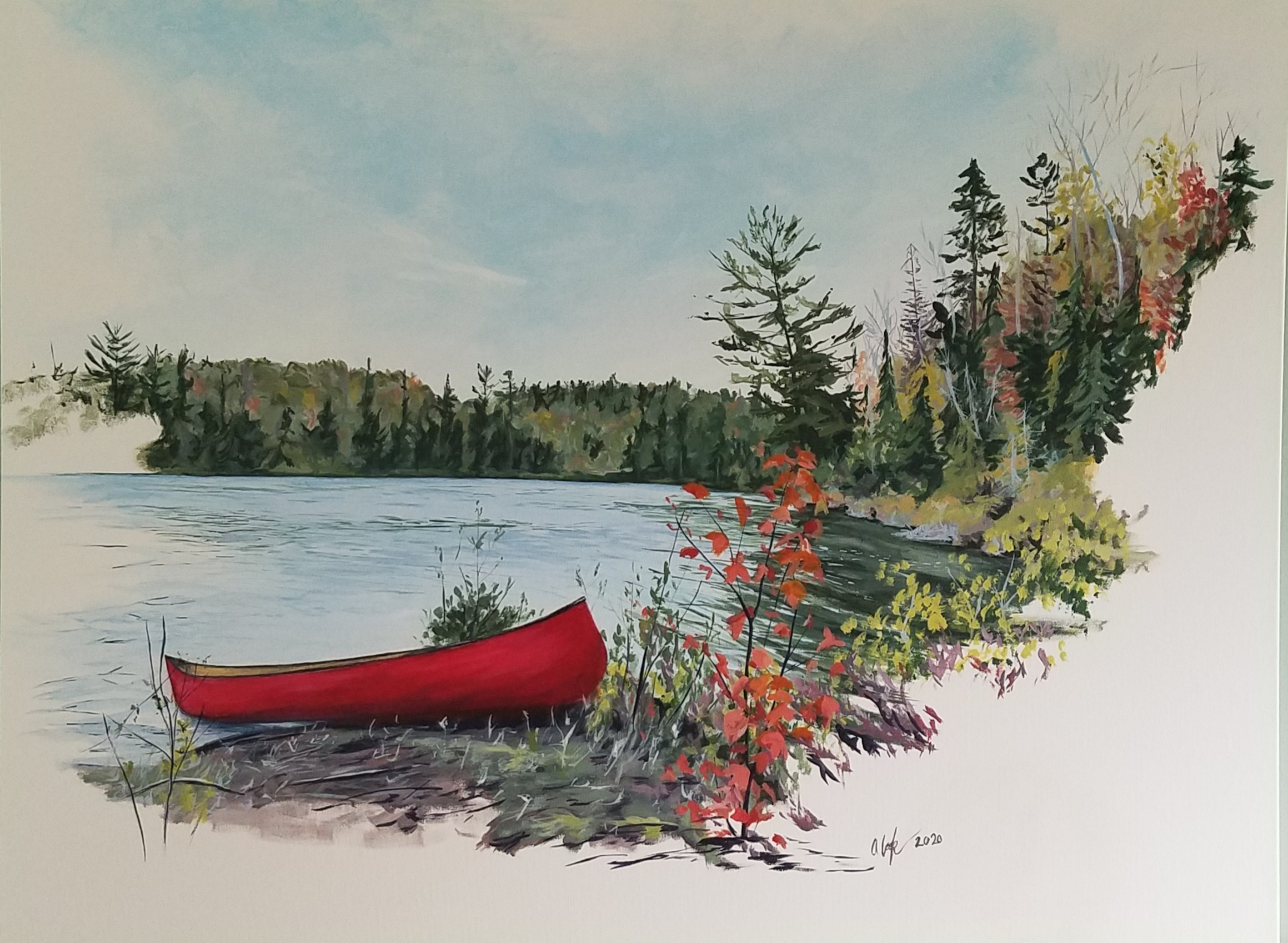 """The Resting Canoe"" SOLD"