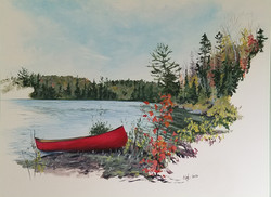 """""""The Resting Canoe"""" SOLD"""
