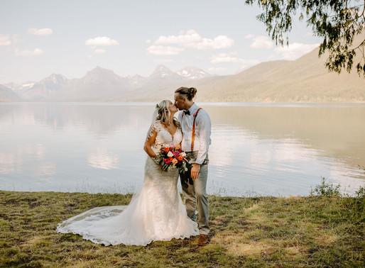 glacier national park wedding locations