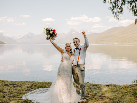 Ryan Meadows Elopement in glacier national park