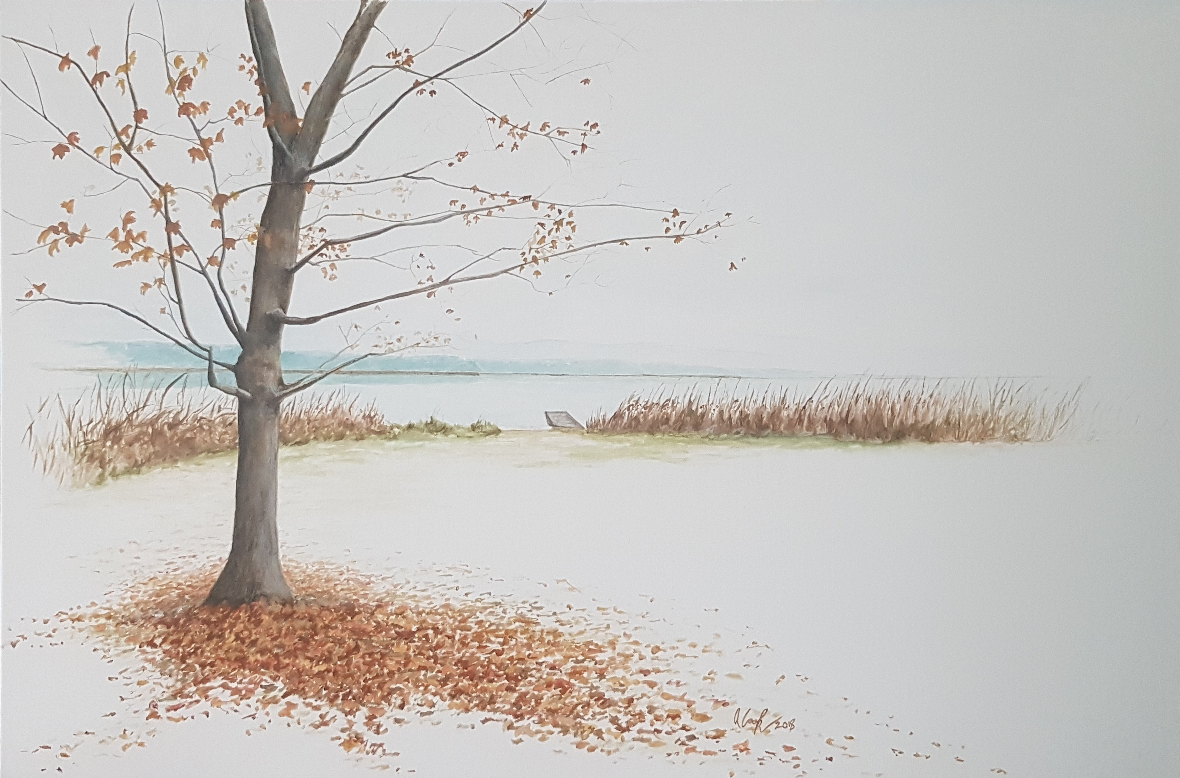"""Fall by the Lake"" SOLD"