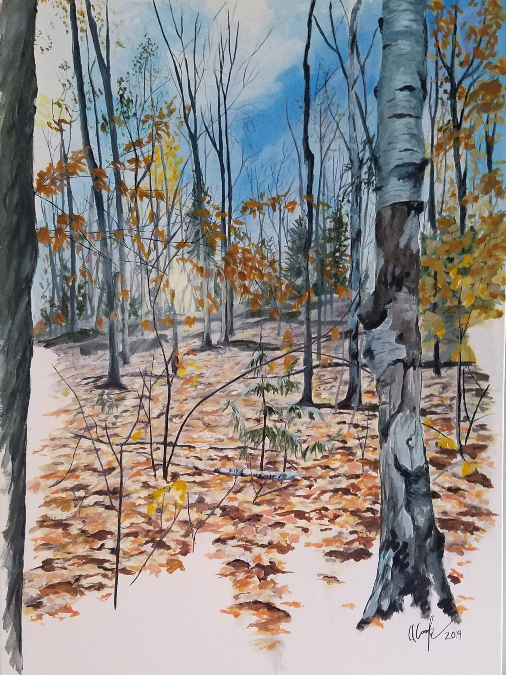 """October in the Woods"""